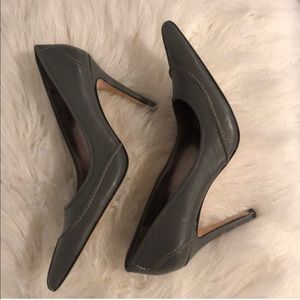 Gray Leather Charles David Heels